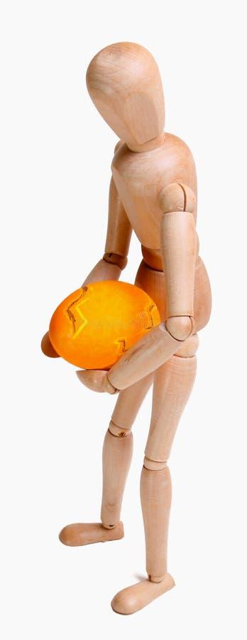 Человек яичка стоковое изображение rf