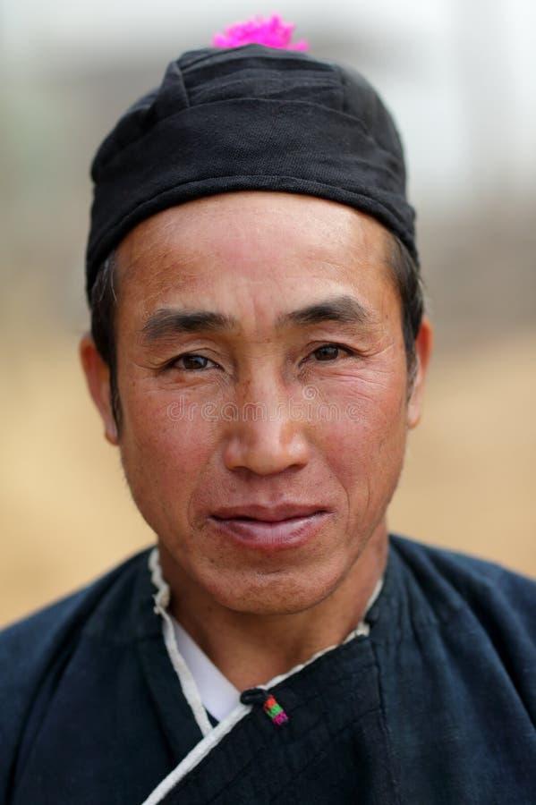 Человек Akha, Phongsaly, Лаос стоковые изображения