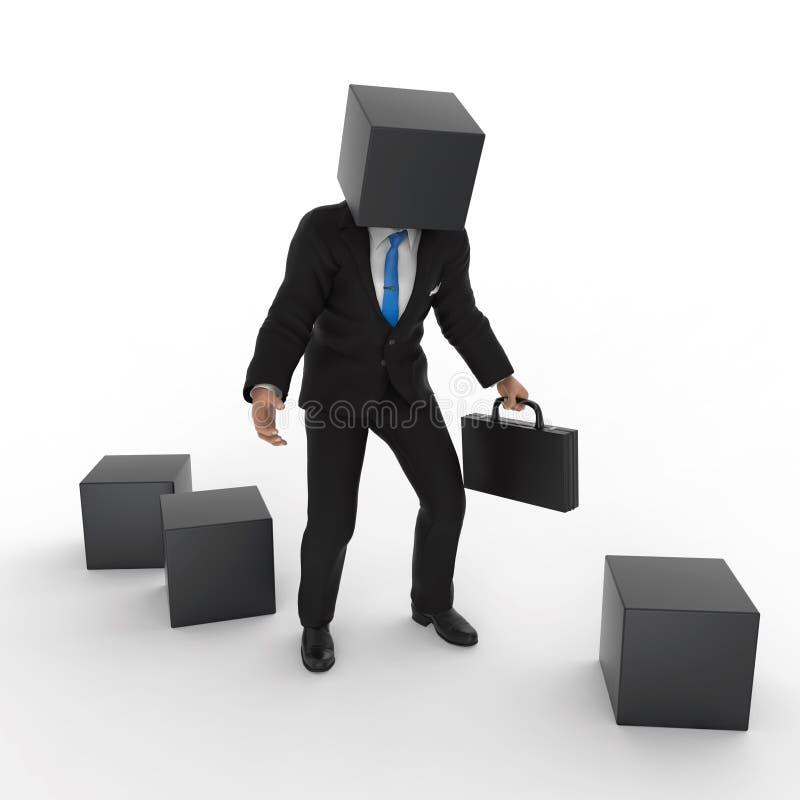 Человек Blockhead бесплатная иллюстрация
