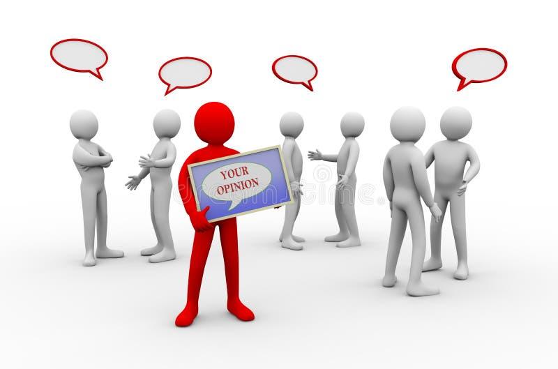 человек 3d ваше мнение - обсуждение людей бесплатная иллюстрация