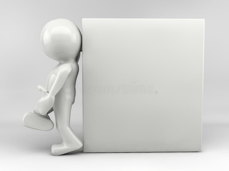 человек 3d с relaxed иллюстрация вектора