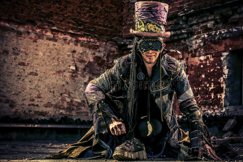 Человек Hatter стоковое фото rf