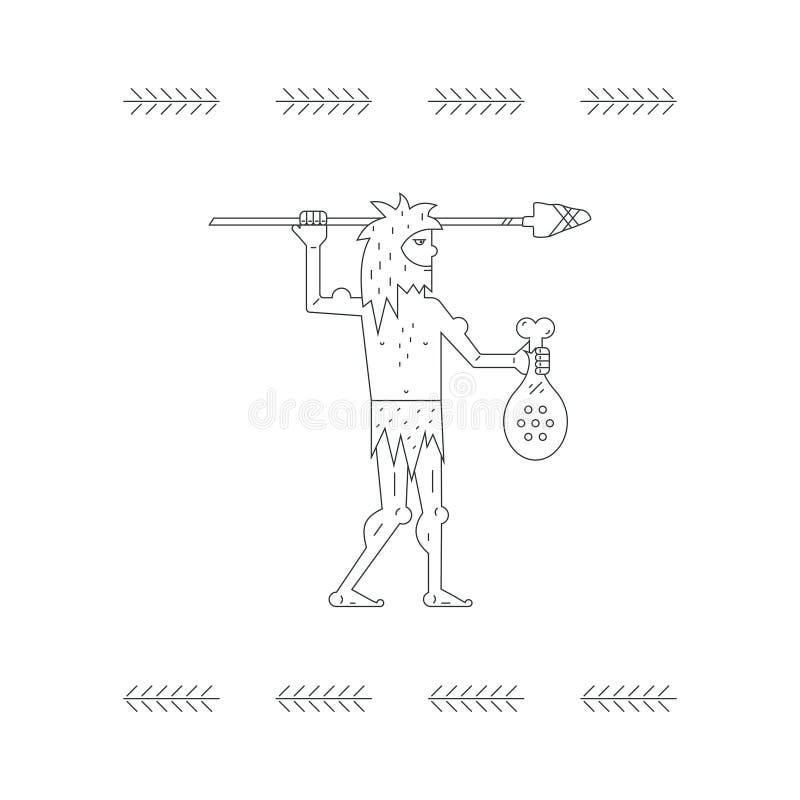 Человек Paleo иллюстрация вектора