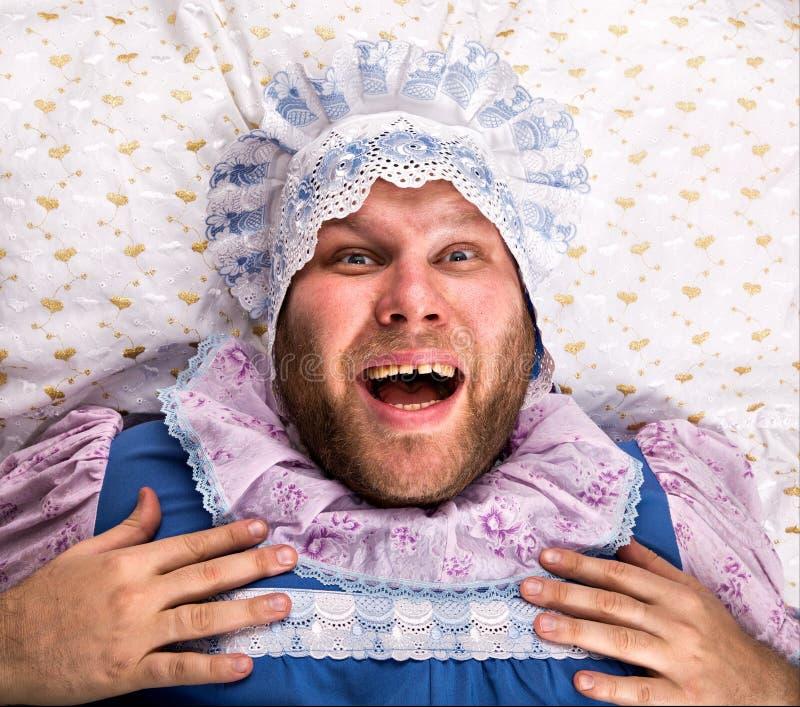 Download Человек Weared как младенец. Его рот открытый Стоковое Фото - изображение насчитывающей различно, выражение: 37925774