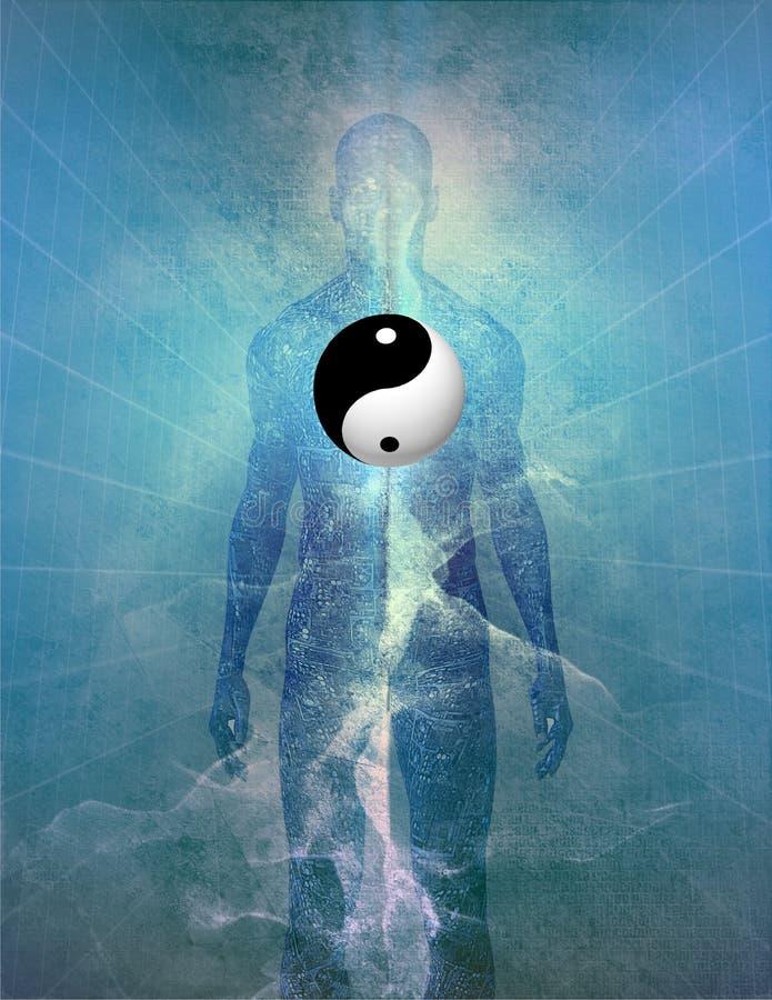 Человек Yin Yang бесплатная иллюстрация