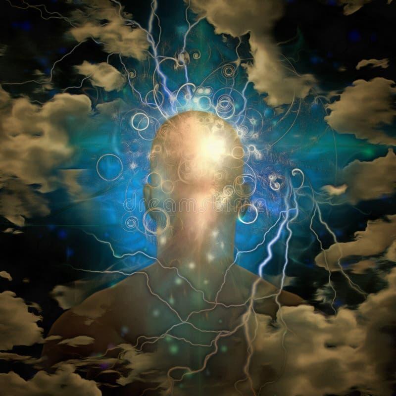 Человеческая голова и разум иллюстрация вектора