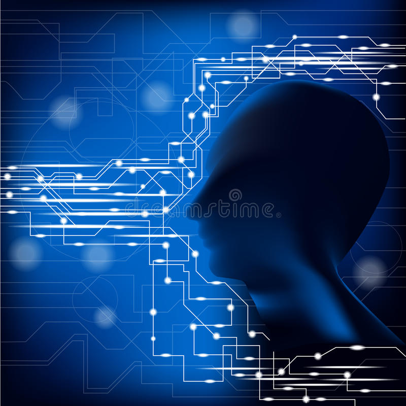 Человеческая голова и соединение стоковые фото