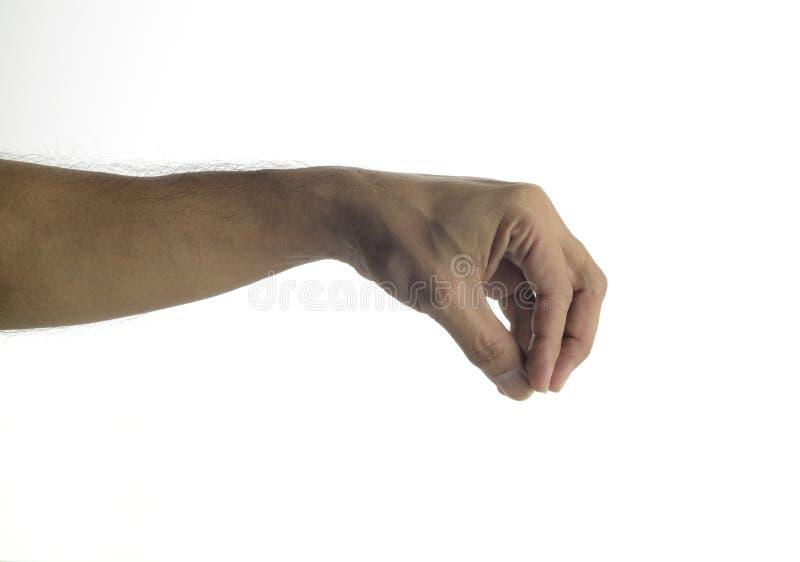 Человеческая рука давая - поднимаясь жест стоковое фото