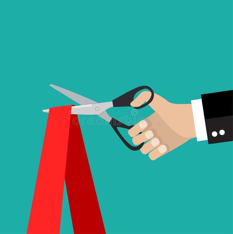 Человеческая рука держа пару ножниц бесплатная иллюстрация