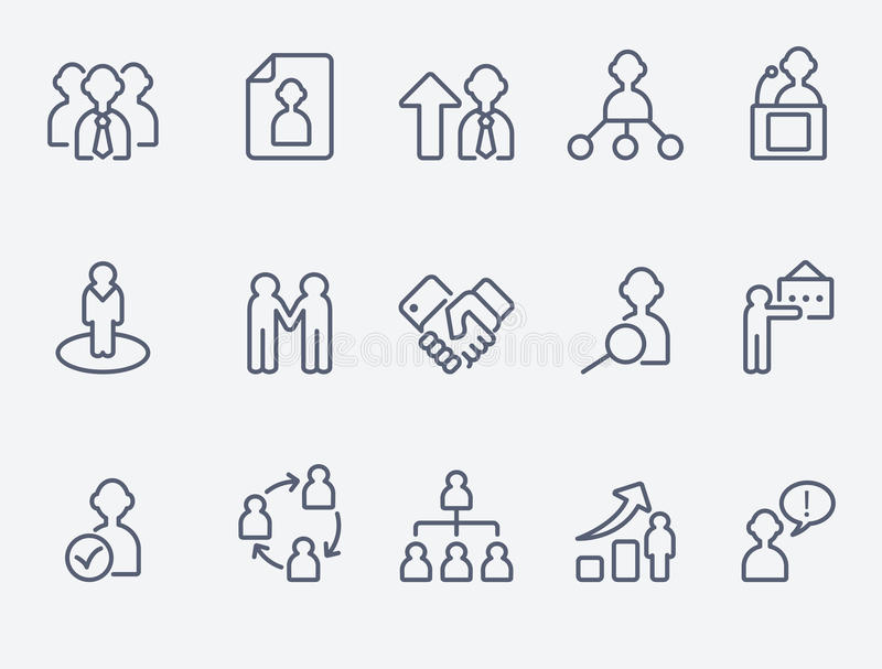 Человеческие значки управления иллюстрация штока