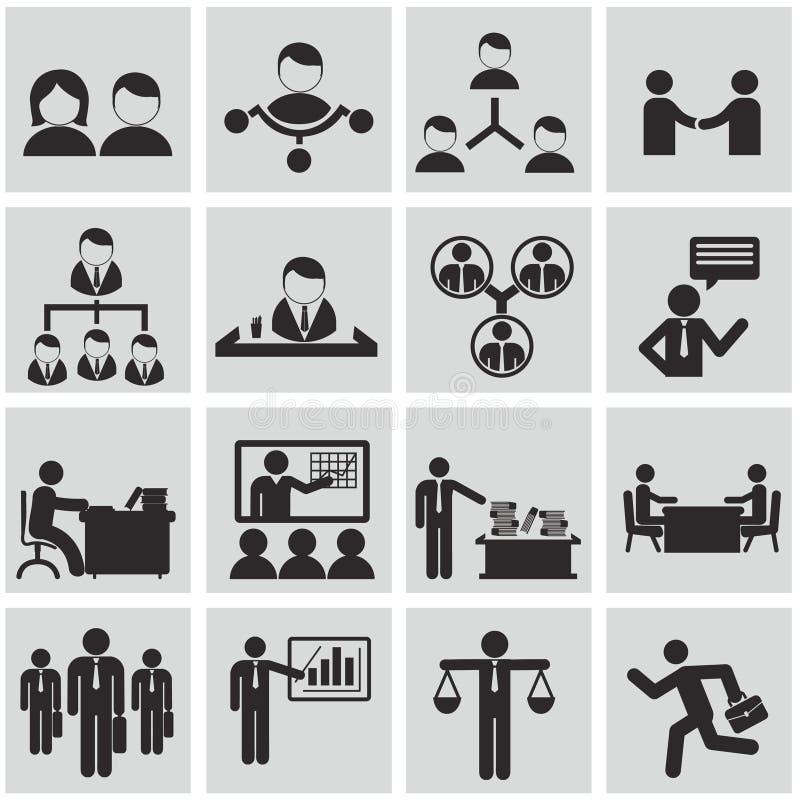 Человеческие ресурсы и установленные значки управления. иллюстрация вектора