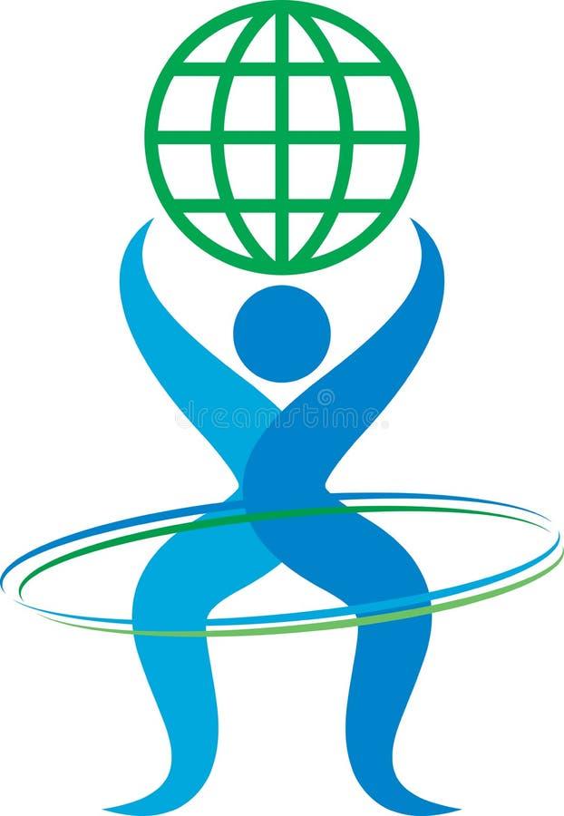 Человеческий логотип иллюстрация вектора