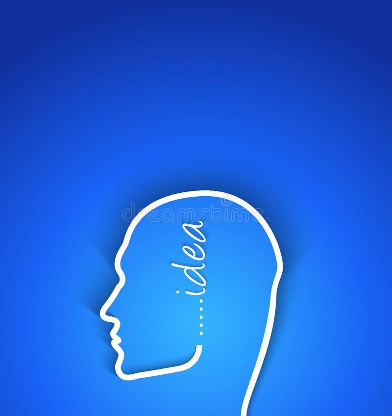 Человеческое лицо концептуального документа идеи с влиянием тени иллюстрация вектора