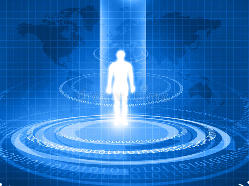 Человеческое тело проанализированное с новой технологией бесплатная иллюстрация