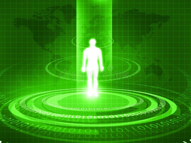 Человеческое тело проанализированное с новой технологией иллюстрация штока