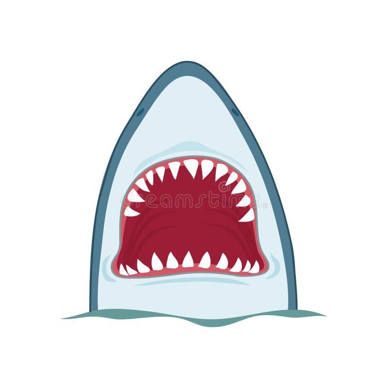 Челюсти акулы иллюстрация вектора