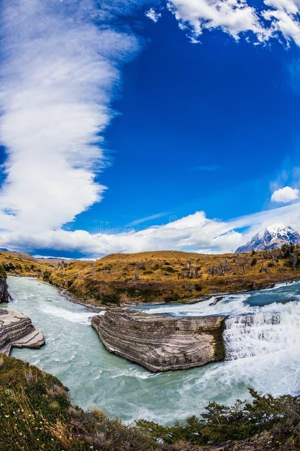 Чили, Патагония, каскады Paine стоковая фотография