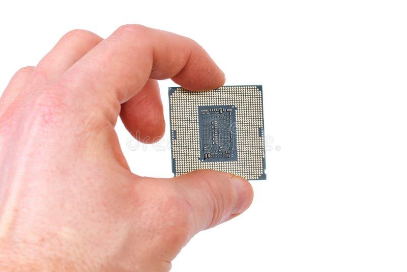 Чип процессора компьютера стоковое изображение
