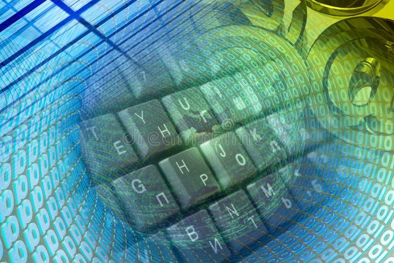 Числа и клавиатура иллюстрация штока