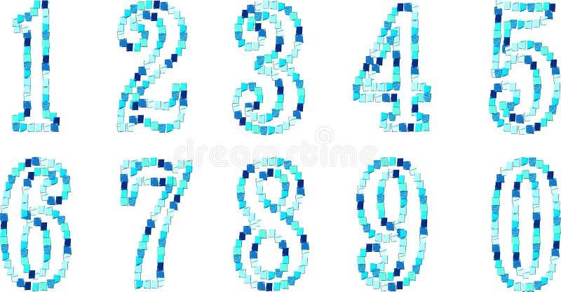 числа иллюстрация вектора
