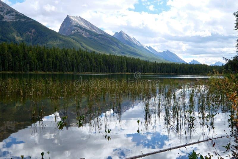 Чистая вода, горы и отражения стоковое фото