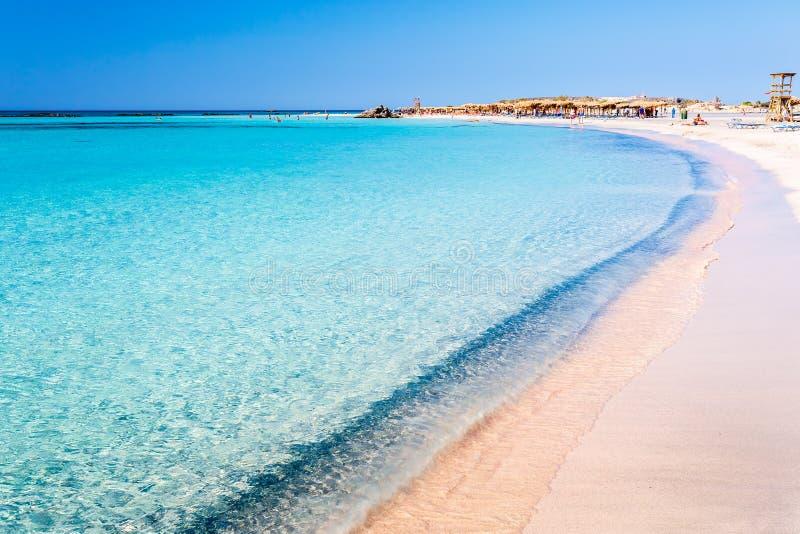 Чистая вода на пляже Elafonisi Крит Греция стоковое фото rf