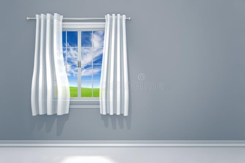 Чистая комната с современными дизайном интерьера и естественным светом иллюстрация вектора