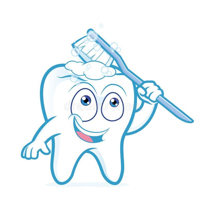 Чистить щеткой зуба бесплатная иллюстрация