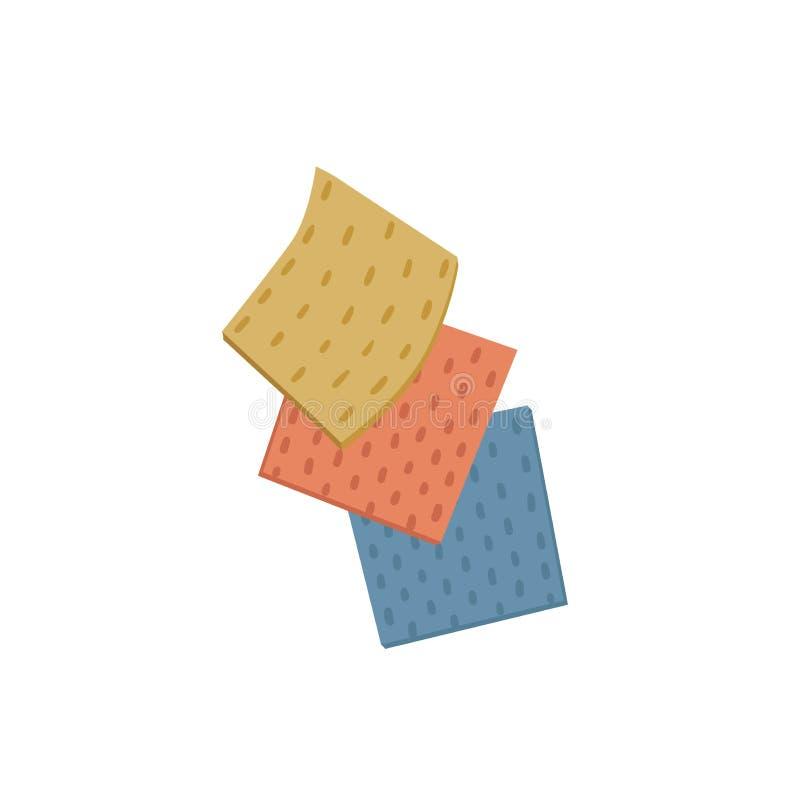 Чистка дизайна шаржа красочная ультрамодная одевает значки Простая ветошь санитарных и уборки вектора чистая бесплатная иллюстрация