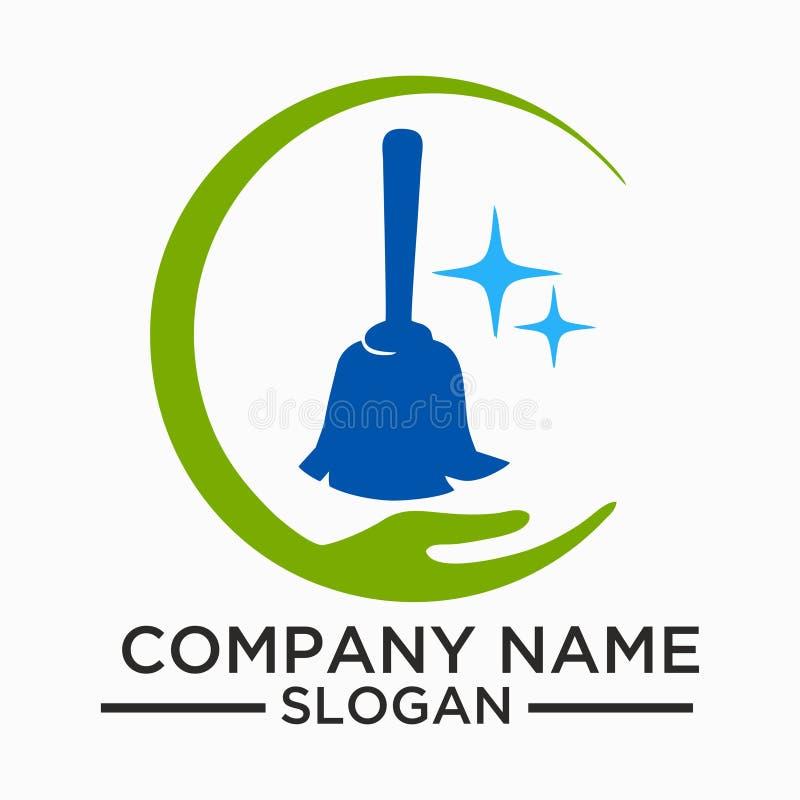 Чистка и логотип и вектор обслуживания шаблон, бесплатная иллюстрация