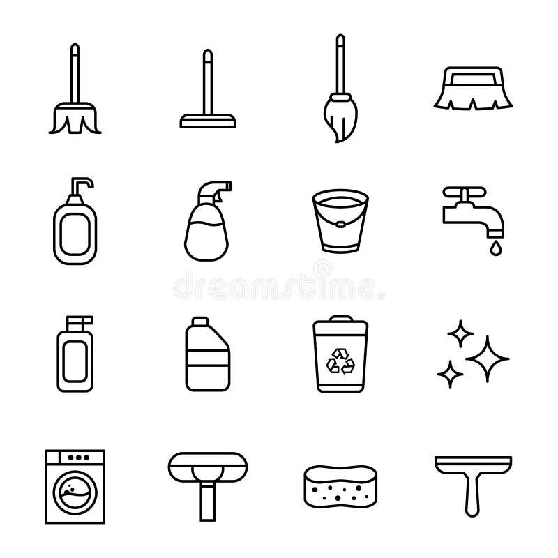 Чистка и уборщик бесплатная иллюстрация