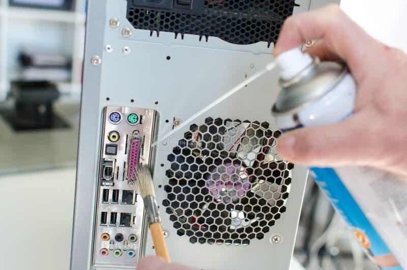 Чистка компьютера стоковые изображения