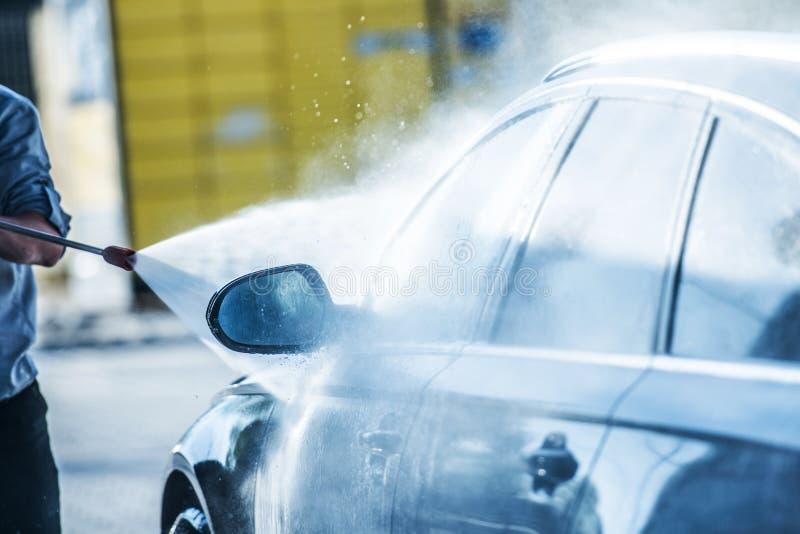 Чистка силы автомобиля стоковое изображение rf