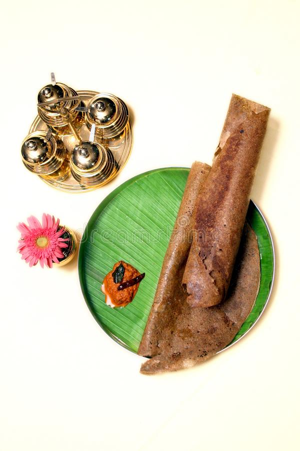 Чистое южное индийское dosa Kambu еды стоковая фотография rf