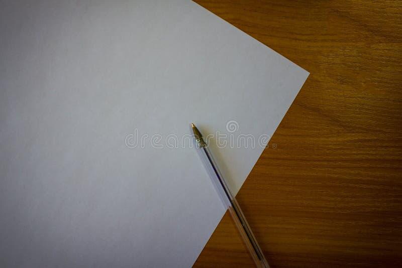 Чисто белый лист, страница стоковое фото rf
