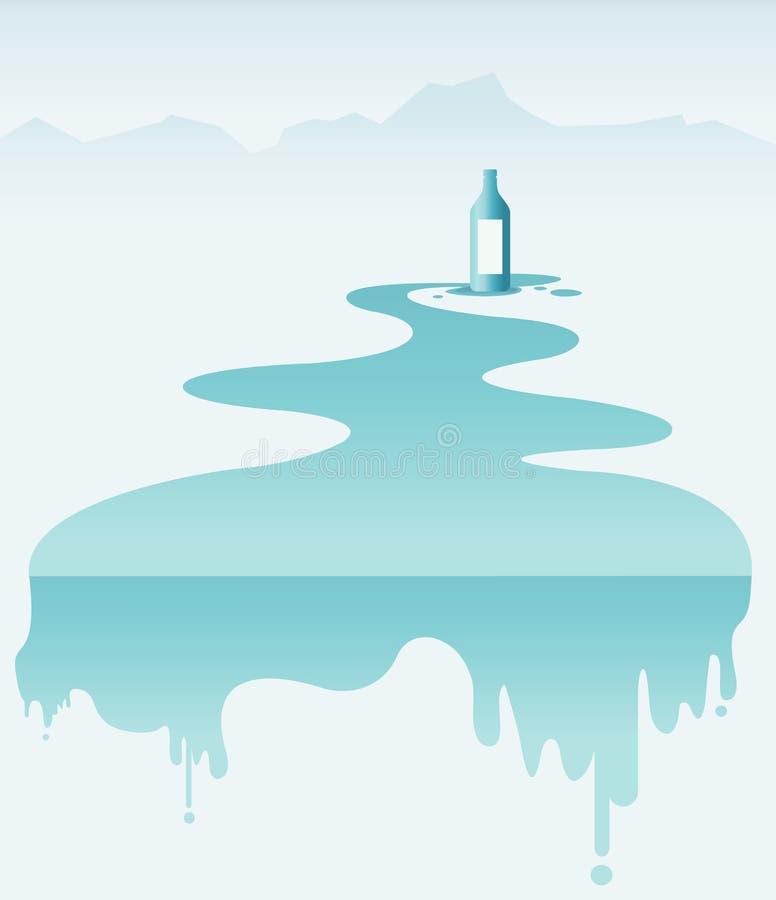 Чисто естественное питье воды, иллюстрация вектора стоковая фотография rf