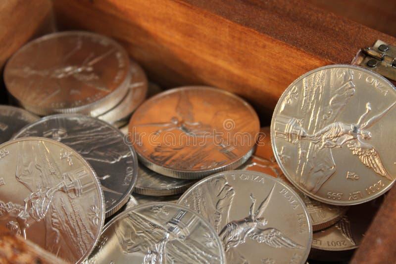 чисто серебряное сокровище стоковое изображение