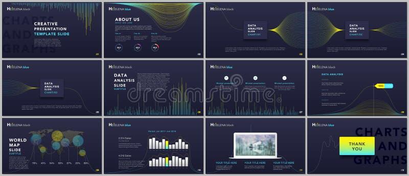 Чистые, минимальные шаблоны представления Дело Infographic Дизайн вектора крышки брошюры Представление сползает для рогульки, бро бесплатная иллюстрация