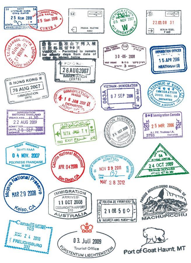 Чистые штемпеля пасспорта иллюстрация вектора