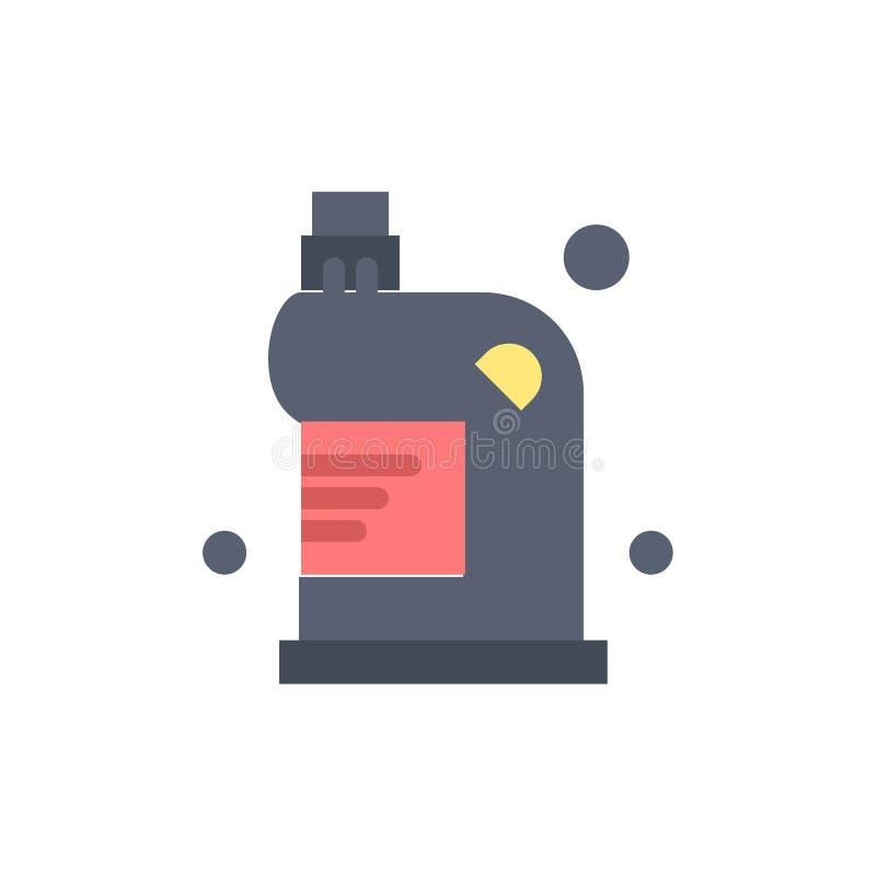 Чистый, чистка, сток, жидкость, значок цвета домочадца плоский Шаблон знамени значка вектора бесплатная иллюстрация