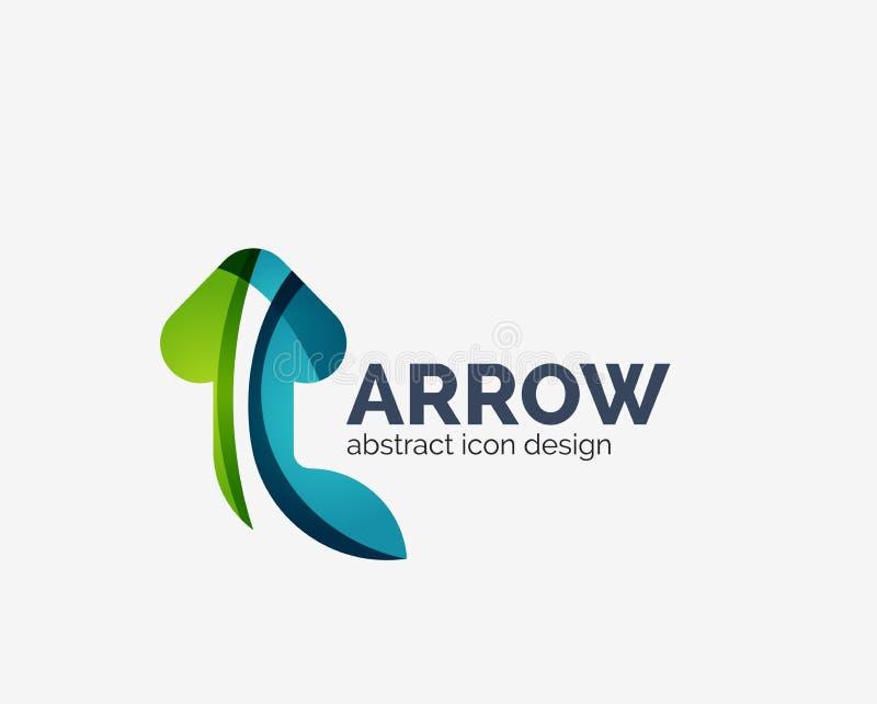 Чистый moden логотип стрелки дизайна волны иллюстрация штока
