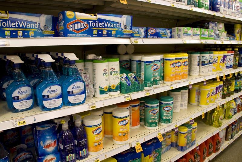 Чистящие средства wipe Clorox стоковые изображения rf