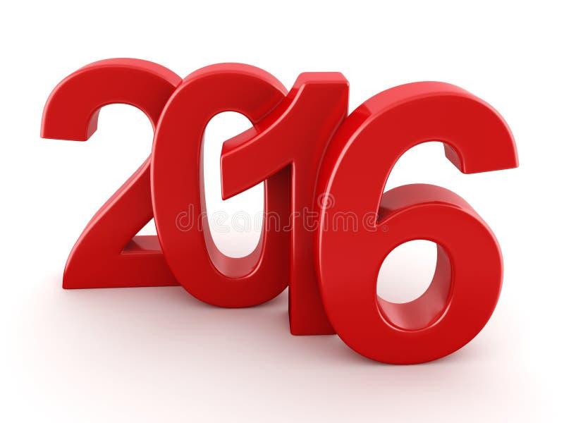 Числа 2016 Новых Годов иллюстрация вектора