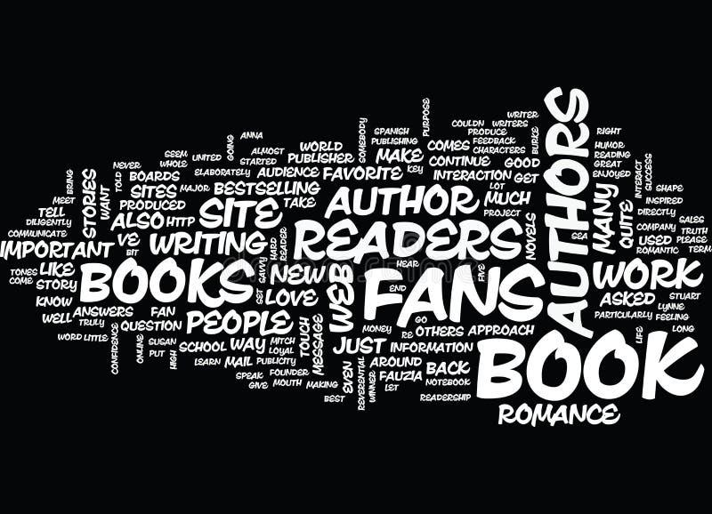 Читатели важные к концепции облака слова авторов иллюстрация вектора