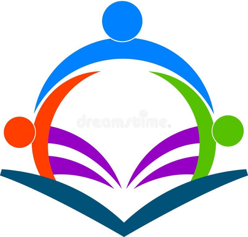 Читатели книги иллюстрация вектора
