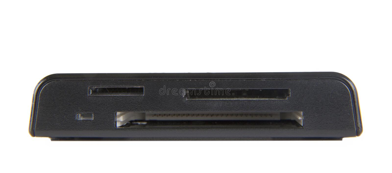 Читатель карточки USB стоковое изображение rf