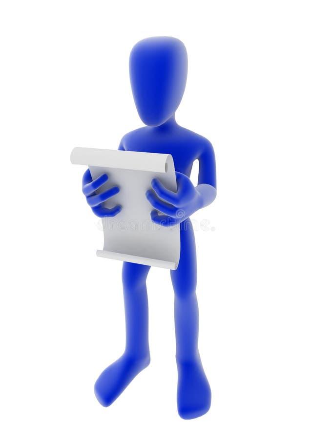 читатель пергамента бесплатная иллюстрация