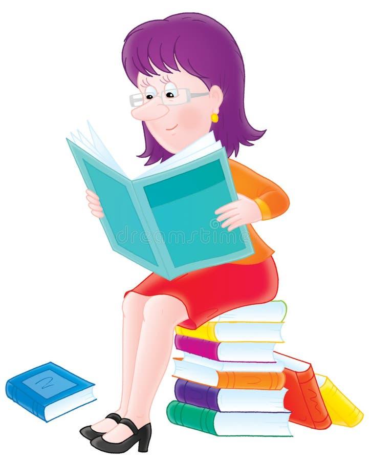 читатель иллюстрация вектора
