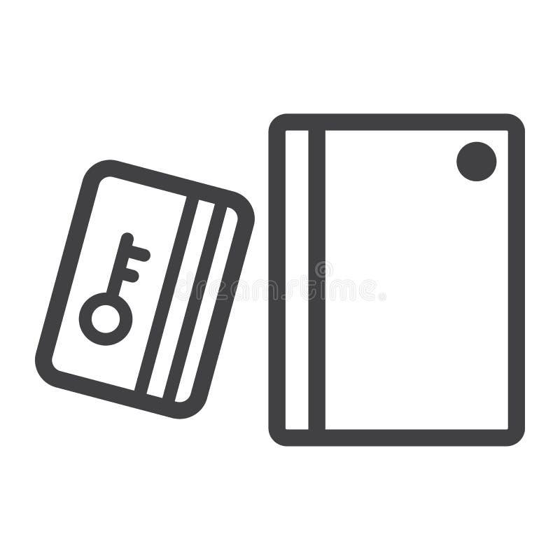 Читатель карточки удара с линией значком кнопочной панели бесплатная иллюстрация
