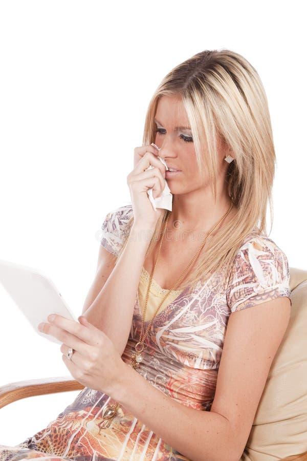 читать унылую женщину стоковая фотография rf